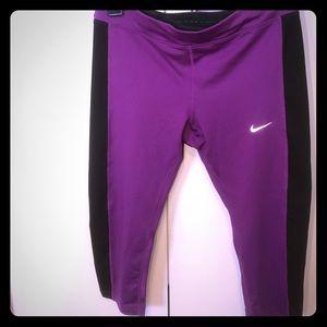 Nike Pants - Purple Nike Dri-fit Capris